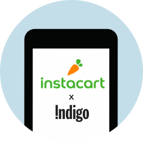 Instacart app displayed on a phone.