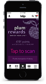 plum on smartphone