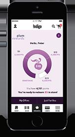 plum on smartphone