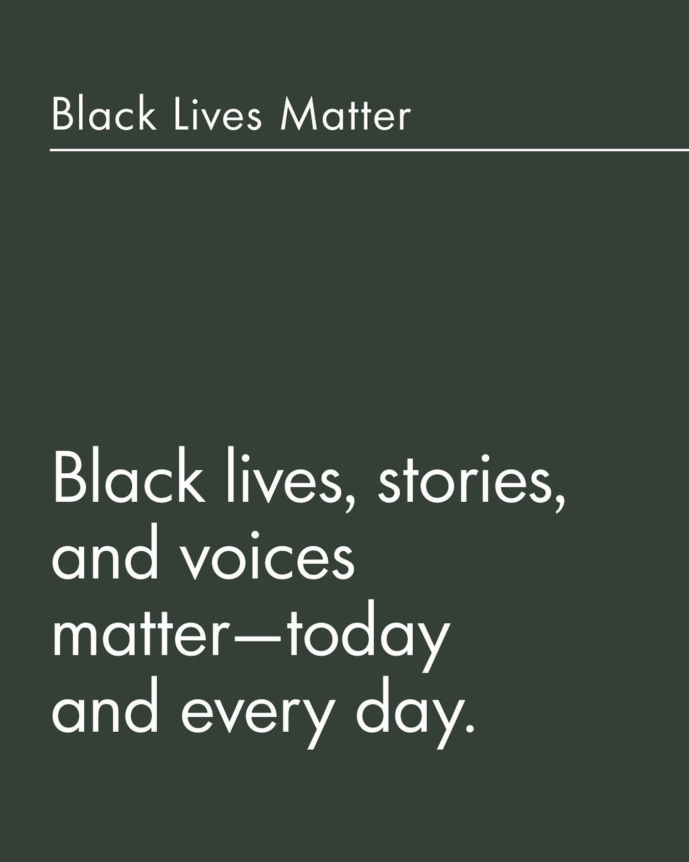 @indigo instagram post: Black lives, stories, and voices matter—today and every day. As people, we pledge to take this watershed moment to li...