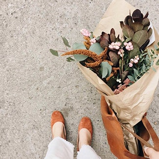 @indigo instagram post: Embrace the changing seasons. On your next walk, stop and smell the crisp scent of fall—or bring an autumnal bouquet hom...