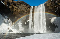 majestic waterfall in Iceland