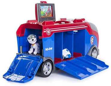 Paw Patrol figures, toys, games, and books